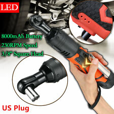 "18V 3/8"" 60N.m Cordless Electric Ratchet Wrench Tool 2 x Battery & Charger Kit"
