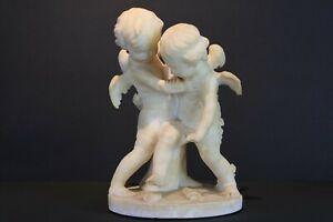 Vintage 20th  Italy Original GUGLIELMO PUGI'S SCULPTURE PLAYING CUPID Signed