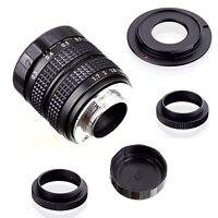 Fujian 35mm f/1.7 CCTV cine lens for Sony NEX E-mount camera & Adapter bundle