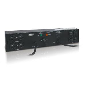 Tripp Lite PDU Dual Source Hot Swap 100-127V 12A 8 5-15R Horizontal 2URM PDU