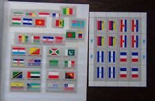 United Nations 1980 Flags of Member Nations (1st Series) 1984 (5th Series)  MNH