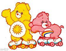 "3.5"" CARE BEARS FUNSHINE CHEER BEAR CHARACTER NOVELTY FABRIC APPLIQUE IRON ON"