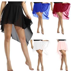 Womens Dance Dress Skirt Performance Ballet Costume Dancewear Wrap Tutu Skirt