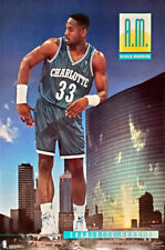 Alonzo Mourning AM Charlotte Hornets 1992-93 Rookie NBA Action Costacos POSTER