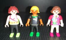 Vintage Playmobil Figures Lot Of 3 Kids Girls Caucasian 1995