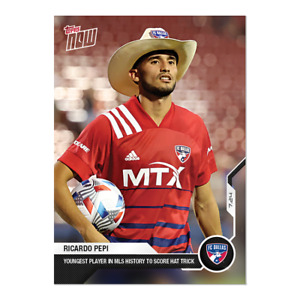 14k FB No Cancel Ricardo Pepi Scores Hat Trick Dallas MLS Topps Now 2021 Card 86
