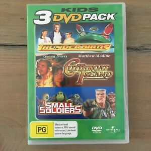 3 DVD PACK -THUNDERBIRDS- CUTTHROAT ISLAND- SMALL SOLDIERS DVD SET