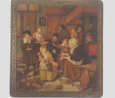 Vintage Biscuit Tin Oulevay Made in Belgium  Jan Steen artwork Very Good cond.