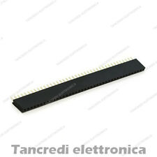Connettori Strip Line Femmina 40 poli 40x1 Header Socket Female passo 2.54mm