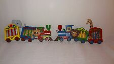 Pair Circus Train Burwood Products Wall Plaque Nursery Child's Room Plastic