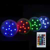 1X 10LED Waterproof Submersible RGB Wedding Party Base Light with Remote Control