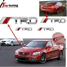 4Pcs 3D Metal TRD Front Grille+Tail+ Side door/Fender Emblem Badge for Toyota