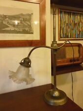 Lampada da tavolo ministeriale snodabile in ottone vintage anni 50 design lamp