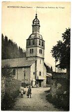 CPA 74 Haute-Savoie Montriond Chef-lieu ou Intérieur du Village animé