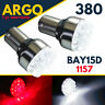 380 1157 Reverse Brake Bay15d Led White Red Tail Stop Bayonet P21/5w Light Bulbs
