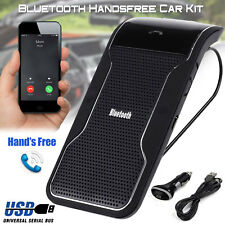Bluetooth HandsFree Car Kit Wireless Speaker Visor Clip For Smart Phone Mobile
