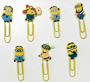 Minions Despicable Me Paperclips Bookmarks x7 cute birthday kids school gifts