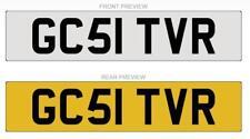 GC51 TVR Registration Number Plate - Sagaris Tuscan T350 Tamora Chimaera Cerbera