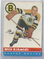 1954-55 Topps Hockey Milt Schmidt Card # 60 Very Good Condition