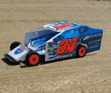 R/C 1/10 SCALE DIRT OVAL MODIFIED BODY KIT CUSTOMWORKS G6 TERMINATOR K1006-TPC