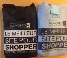 MONOPRIX French Grocery shopping bag, set of 2 (black&blue)