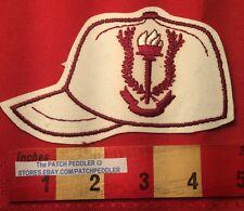 Baseball / Softball Jacket Patch ~ Red Flame / Torch & Laurel Wreath Logo 5NB6
