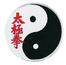 "Tai Chi Yin Yang Patch Embroidered Patch Badge Sew On Patch Martial Arts-4"" NEW"