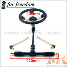420mm Gear Rack Pinion 300mm Steering Wheel Assembly 110cc Go Kart Quad Parts