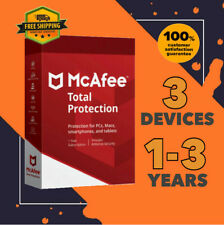McAfee Total Protection Antivirus 3 Device PC | 1 to 3 Year GLOBAL