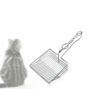 Solid Metal Sifter 100% Stainless Steel Sturdy Durable Quick Leaking Cat Litter