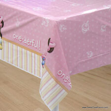 Minnie Mouse Baby TABLECOVER 1st First Birthday Decoration Party Pink Tablecloth
