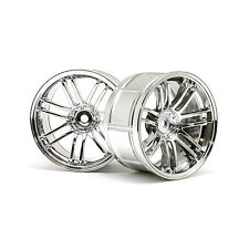 HPI Racing RC Car LP32 RE30 RAGGI VOLKS RACING WHEELS Chrome 6mm 2 PC 3341