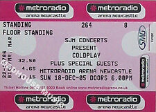 COLDPLAY Concert Ticket Newcastle 2005 18 December