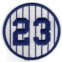 SALE: DON MATTINGLY YANKEES RETIRED 1984 JERSEY NUMBER 23 PATCH