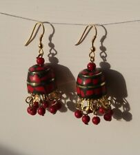 Tibetan Earrings - Boho/Hippy/Ethnic Style.  Brass.