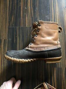 LL Bean Duck boots Size 10