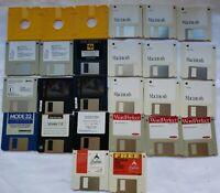 "Lot of Apple Macintosh 3.5"" Disc Floppy Disks System WordPerfect AOL Mode 32 HP"