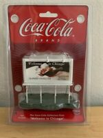 "COCA-COLA ""WELCOME TO CHICAGO"" 1:87 MINI-BILLBOARD NEW IN PACKAGE"
