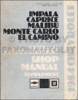 1972 Chevrolet Monte Carlo Wiring Diagram Manual Ebay