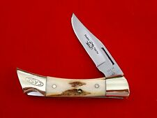 Vintage 1981 Case XX Stag Shark Tooth Lockback Knife With Box