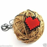 Anime Undertale Frisk Chara Heart Necklace Metal Pendant Jewelry Gift