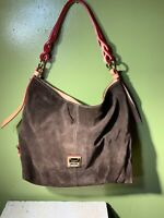 DOONEY & BOURKE Brown SUEDE LEATHER COOPER HOBO  PURSE BAG Shoulder Large