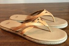b07a19ad4 UGG Australia ANNICE Leather Flip Flop  Sandals  1016801 CFE Brown Sz 11