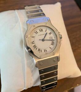 Cartier Santos Octagon Silver Watch
