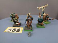 Warhammer edad de Sigmar orruks orcos goblins de metal orcos salvajes comando 505
