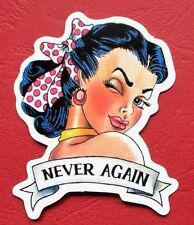 "Sticker Decal Vintage "" Never again "" Gloss-Optics - Stickerbomb Laptop"