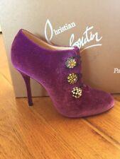 4efb0c099978 New Christian Louboutin Bootoni MJ Purple Velvet Crystal Pump Heel Bootie  39 9