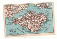 ISLE OF WIGHT MAP  OLD PRINTED  POSTCARDS