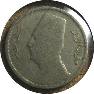 elf Egypt Kingdom 5 Milliemes 1929 AH 1348  Fuad I