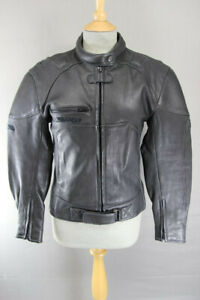 AMAZING BIKO LADIES IMMACULATE CONDITION BLACK LEATHER BIKER JACKET: SIZE 8